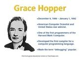 Grace Hopper Famous Computer Scientist Poster