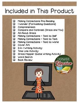 Grace Hopper Queen of Computer Code 14 Book Extension Activities NO PREP
