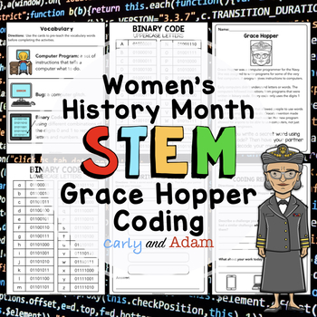 Grace Hopper Queen of Computer Code Women's History Month Coding Activity