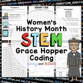 Grace Hopper Queen of Computer Code Women's History Month Coding Activity