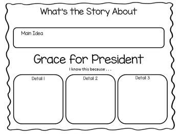 Grace for President ~ 35 pgs Common Core Activities