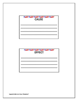 Grace for President - Cause and Effect Activity