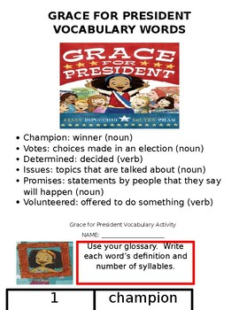 Grace for President Literature Packet