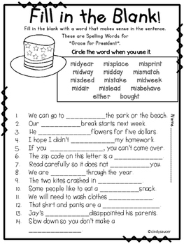 Grace for President, Reading Street, 2nd Grade, Centers and Printables