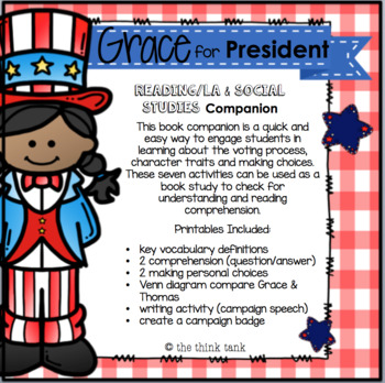 Grace for President: Reading and Social Studies Companion