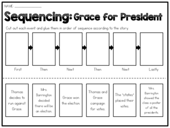 Grace for President - Sequencing Worksheet