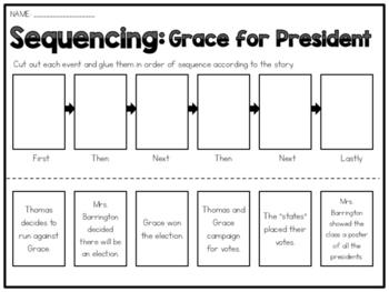 Grace for President - Sequencing Worksheet