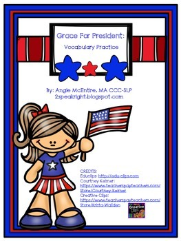 Grace for President: Vocabulary FREEBIE