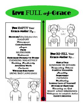 Grace-meter - Live full of grace - poster