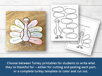 Gracias Thanksgiving & Turkey Banner in Spanish