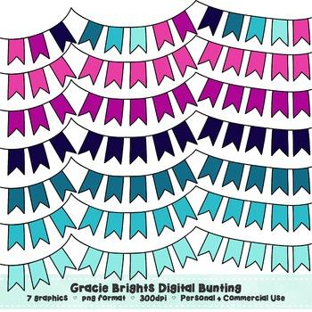 Gracie Brights Bunting Clip Art Set