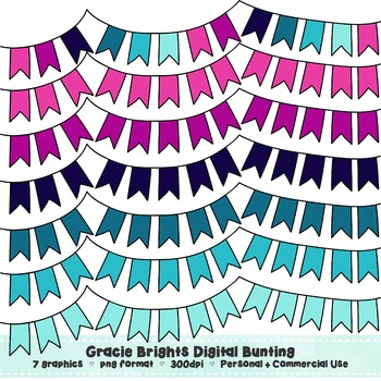 Gracie Brights Bunting Clip Art Set