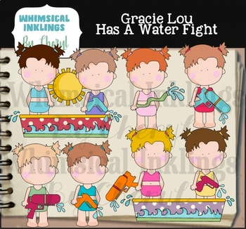 Gracie Lou Has a Water Fight Clipart Collection