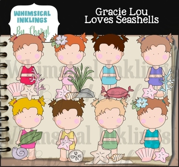 Gracie Lou Loves Sea Shells Clipart Collection