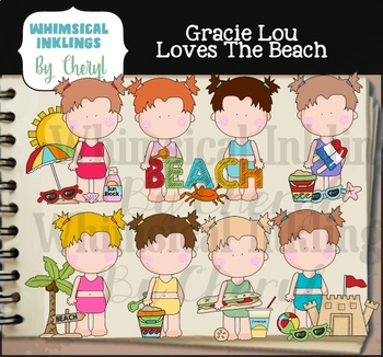 Gracie Lou Loves The Beach Clipart Collection