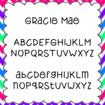 Gracie Mae Font {personal and commercial use; no license needed}
