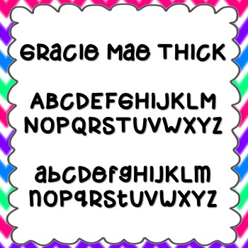 Gracie Mae Thick Font {personal and commercial use; no license needed}