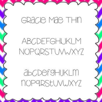 Gracie Mae Thin Font {personal and commercial use; no lice