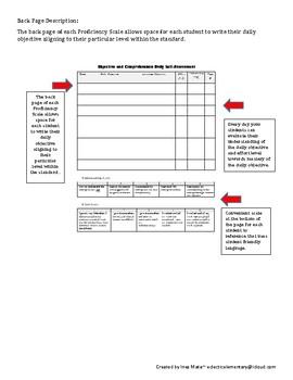 Grade 06 LAFS Proficiency Scales- STUDENT