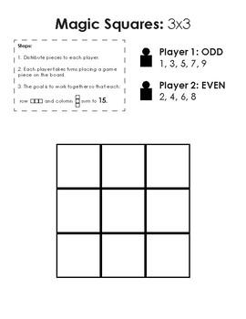 Grade 1/2 Magic Square Activity MATH WITH SOMEONE