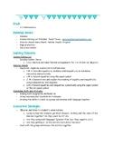 Grade 1/2 Math Workstation/Center- Number Sense and Equalities
