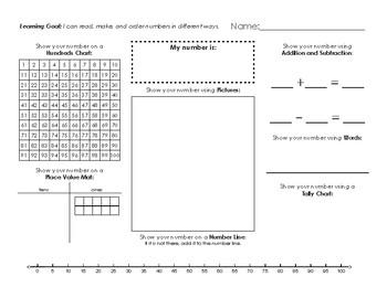 Grade 1/2 Number Sense Assessment Tool