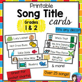 Grade 1 - 2 Printable Song Title Cards, over 25 Kodaly Fol