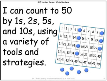 Grade 1 & 2 Split Math Curriculum Comparison Charts and Learning Goals Posters