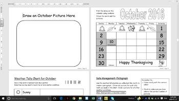 Grade 1 2016/2017 Calendar with Math and Language Curricul