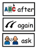 Grade One Dolch Word Wall Cards and Flashcards with Text a