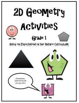 Grade 1 2D Geometry & Symmetry Activity Book