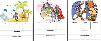 Narrative Writing Scoot or Writing Prompt Cards - Scenes + Characters (Gr1-3)