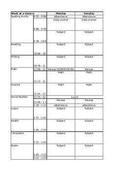 Grade 1-6 Planbook (Editable)