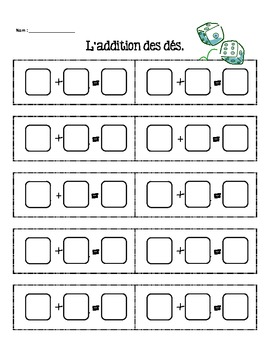 Grade 1 Addition and Subtraction - French Immersion