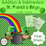 Grade 1 - Addition and Subtraction St. Patrick's Bingo