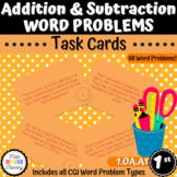 Grade 1 - Addition and Subtraction Word Problems - Task Cards