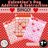 Grade 1 - Addition and Subtraction Valentines Bingo