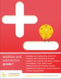 Grade 1 Addition & Subtraction Workbook: Making Math Visual