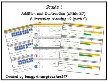 Grade 1 - Addition and Subtraction within 20: Subtraction across 10 (part 2)