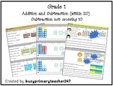 Grade 1 - Addition and Subtraction within 20: Subtraction