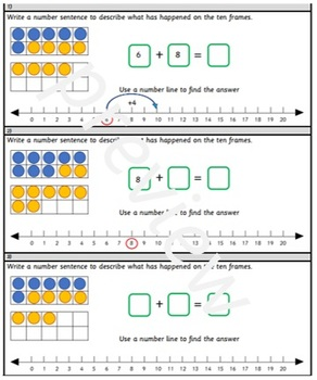 Grade 1 - Addition and Subtraction within 20: adding by making 10.