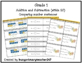 Grade 1 - Addition and Subtraction within 20: compare numb
