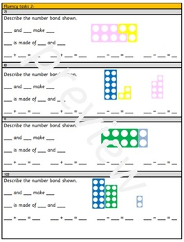 Grade 1 - Addition and Subtraction within 20 - find and make number bonds