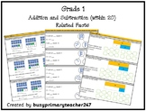 Grade 1 - Addition and Subtraction within 20: related facts