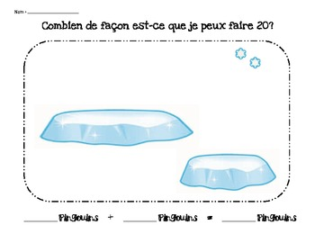 Grade 1 Addition to 10 and 20- French Immersion