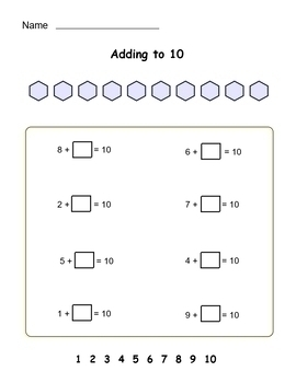 Grade 1-2 Addition to 20 - worksheet set - Great practice! - CCSS - b/w