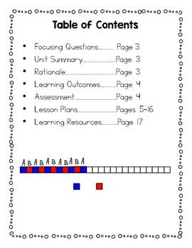 Grade 1 Alberta Mathematics Patterns Unit Plan