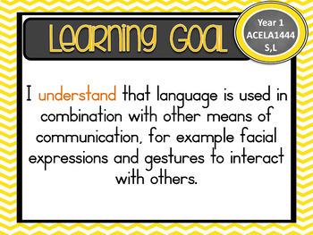 VERSION 8.3 Grade 1 All English - Learning Goals & Success Criteria! AC