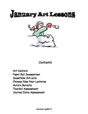 Grade 1 Art Lessons for January