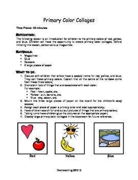 Grade 1 Art Lessons for November